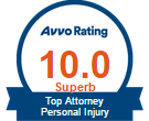 Minneapolis Personal Injury Lawyer Peter-W-Riley AVVO Rating