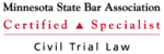Attorney Cole J. Dixon Recognized as Certified Civil Trial Law Specialist by the Minnesota Stat...